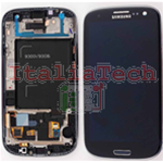 DISPLAY LCD ORIGINALE Samsung i9300 Galaxy S3 NERO touch vetro schermo vetrino