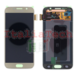 DISPLAY LCD ORIGINALE Samsung G920F Galaxy S6 GOLD ORO vetrino touch vetro schermo