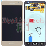 DISPLAY LCD ORIGINALE Samsung A300F Galaxy A3 GOLD ORO vetrino touch vetro schermo