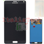DISPLAY LCD ORIGINALE Samsung N910F Note 4 NERO touch vetro schermo completo