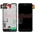 DISPLAY LCD COMPLETO PER NOKIA LUMIA 630 635 FRAME TOUCHSCREEN schermo touch screen