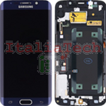 DISPLAY LCD ORIGINALE Samsung G925F Galaxy S6 Edge NERO vetrino touch vetro schermo