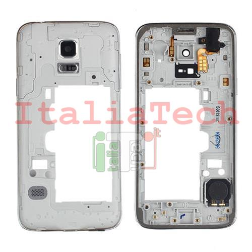 CORNICE CENTRALE per Samsung G800 G800F Galaxy S5 Mini middle plate FRAME TASTO ON OFF VOLUME cover