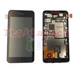 DISPLAY LCD COMPLETO PER NOKIA LUMIA 530 FRAME TOUCHSCREEN schermo NERO touch screen