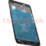 TELAIO CENTRALE per Samsung n7000 Galaxy Note metal silver plate MIDDLE FRAME nero