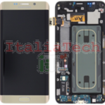 DISPLAY LCD ORIGINALE Samsung G928F Galaxy S6 Edge Plus ORO vetrino touch vetro schermo