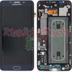 DISPLAY LCD ORIGINALE Samsung G928F Galaxy S6 Edge Plus NERO vetrino touch vetro schermo