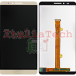 LCD DISPLAY + TOUCH COMPLETO PER HUAWEI ASCEND Mate 7 ORO touchscreen vetro