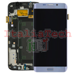 DISPLAY LCD ORIGINALE Samsung G928F Galaxy S6 Edge Plus SILVER vetrino touch vetro schermo