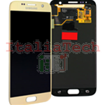 DISPLAY LCD ORIGINALE Samsung G930F Galaxy S7 ORO GOLD vetrino touch vetro schermo