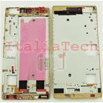 Cornice laterale Scocca FRAME HUAWEI P8 oro gold Ricambio Middle frame