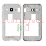 CORNICE CENTRALE per Samsung J100 J100FN Galaxy J1 middle plate BIANCO FRAME TASTO ON OFF VOLUME cover