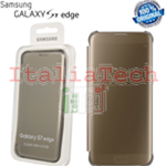 CUSTODIA CLEAR VIEW COVER originale Samsung EF-ZG935CF per GALAXY S7 EDGE GOLD ORO