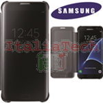 CUSTODIA CLEAR VIEW COVER originale Samsung EF-ZG935CB per GALAXY S7 EDGE BLACK NERO