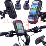 "SUPPORTO BICI CUSTODIA UNIVERSALE WATERPROOF SMARTPHONE XL 5.5""-6.2"" transparente"