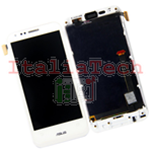 DISPLAY TOUCH LCD COMPLETO per Asus Padfone 2 II A68 schermo vetro BIANCO vetrino touch frame