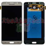DISPLAY LCD ORIGINALE Samsung J710 Galaxy J7 2016 GOLD ORO vetrino touch vetro schermo