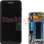 DISPLAY LCD ORIGINALE Samsung G935F Galaxy S7 EDGE NERO vetrino touch vetro schermo