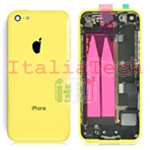 Back Cover Copribatteria posteriore COMPLETO Per apple iphone 5c Giallo scocca retro guscio