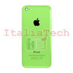Back Cover Copribatteria posteriore COMPLETO Per apple iphone 5c Verde scocca retro guscio