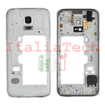 CORNICE CENTRALE per Samsung G903F Galaxy S5 NEO middle plate FRAME TASTO ON OFF VOLUME cover