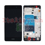 LCD DISPLAY + TOUCH + FRAME COMPLETO PER HUAWEI P8 LITE NERO touchscreen vetro