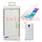 CUSTODIA Flip Case originale Samsung EF-WN910FTE per N910 Galaxy Note 4 Bianco White