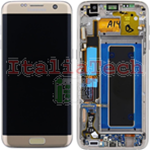 DISPLAY LCD ORIGINALE Samsung G935F Galaxy S7 EDGE GOLD oro vetrino touch vetro schermo