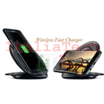 CARICABATTERIE WIRELESS FAST CHARGER COMPATIBILE NG930 Stand nero pad ricarica veloce