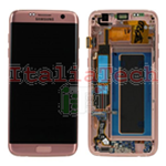 DISPLAY LCD ORIGINALE Samsung G935F Galaxy S7 EDGE ROSE GOLD vetrino touch vetro schermo rosa