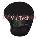 VULTECH MOUSEPAD ERGONOMICO CON POGGIAPOLSO IN GEL NERO MP-02N