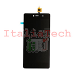 LCD DISPLAY + TOUCH PANEL ASSEMBLATI PER WIKO FEVER 4G (Nero)
