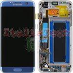 DISPLAY LCD ORIGINALE Samsung G935F Galaxy S7 EDGE BLUE vetrino touch vetro schermo