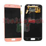 DISPLAY LCD ORIGINALE Samsung G930F Galaxy S7 ROSE GOLD pink vetrino touch vetro schermo