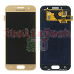 DISPLAY LCD ORIGINALE Samsung A320F Galaxy A3 2017 ORO GOLD vetrino touch vetro schermo