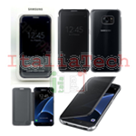 CUSTODIA CLEAR VIEW COVER originale Samsung EF-ZG930CBE per GALAXY S7 BLACK NERO