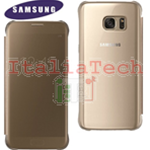 CUSTODIA CLEAR VIEW COVER originale Samsung EF-ZG930CFE per GALAXY S7 GOLD ORO