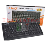 Mini Tastiera linq Usb Multimediale Ultra Sottile con Filo Notebook Pc k-2