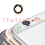 LENTE per fotocamera posteriore iPhone 7 back camera lens supporto anello GOLD
