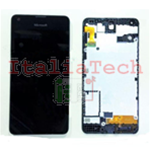 DISPLAY LCD COMPLETO PER NOKIA LUMIA 550 FRAME TOUCHSCREEN schermo NERO touch screen