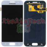 DISPLAY LCD ORIGINALE Samsung A320F Galaxy A3 2017 BLU BLUE vetrino touch vetro schermo