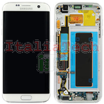 DISPLAY LCD ORIGINALE Samsung G935F Galaxy S7 EDGE BIANCO vetrino touch vetro schermo