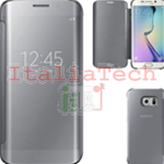 CUSTODIA CLEAR VIEW COVER originale Samsung EF-ZG925BSE per GALAXY S6 EDGE SILVER