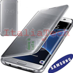 CUSTODIA CLEAR VIEW COVER originale Samsung EF-ZG935CB per GALAXY S7 EDGE SILVER