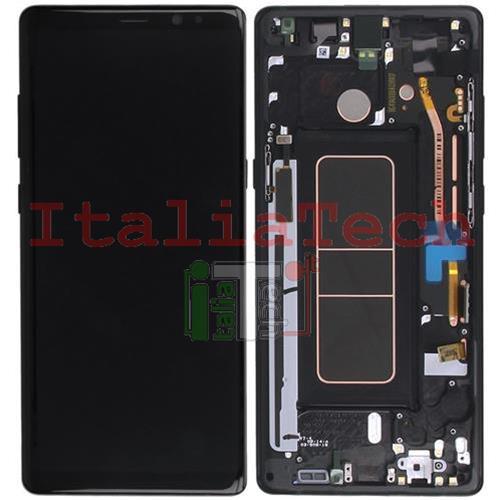 Samsung Galaxy Touch Note N950f Originale Vetrino Schermo Nero Vetro 8 Display Lcd