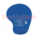 VULTECH MOUSEPAD ERGONOMICO CON POGGIAPOLSO IN GEL BLU MP-02B