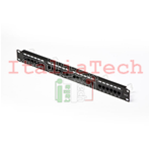 PANNELLO PATCH 24 PORTE RJ45 U/UTP CAT. 5e PER RACK 19""