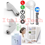 CUFFIA AURICOLARE WIRELESS BLUETOOTH HBQ i7R BIANCO COMPATIBILE CON ANDROID IOS