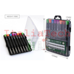Best-8801A KIT SET CACCIAVITI PROFESSIONALI 1.5 / Cross 1.2 / Cross 1.5 / Pentalobe 0.8 / T3 / T4 / T5 / T6