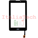 "VETRINO touchscreen per ACER ICONIA ONE TAB A1-713 A713 7"" nero vetro touch screen"